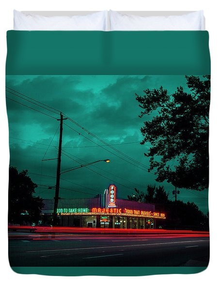 Majestic Cafe Duvet Cover