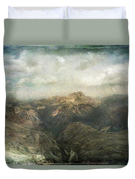Majestic Dolomites Duvet Cover