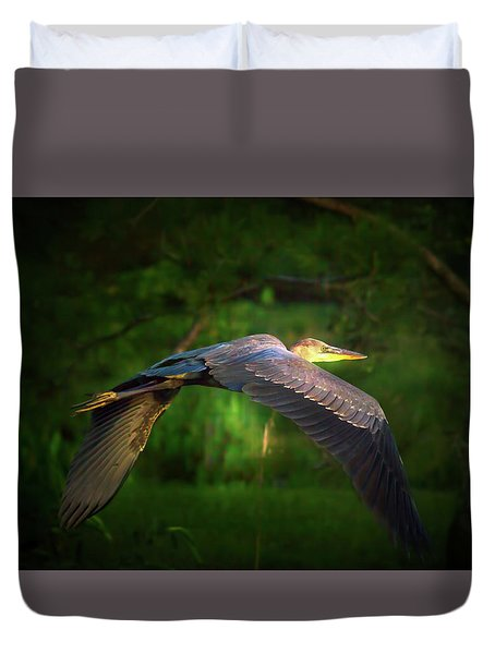 Majestic Flight Duvet Cover by Mark Andrew Thomas