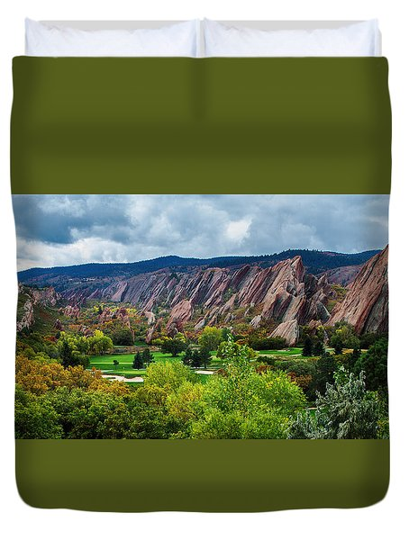 Duvet Cover featuring the photograph Majestic Foothills by Kristal Kraft