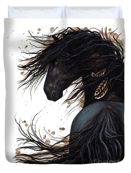 Majestic Friesian 143 Duvet Cover