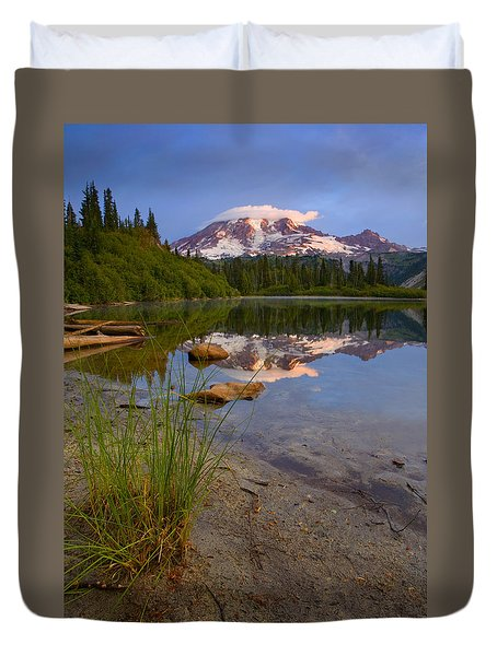 Majestic Glow Duvet Cover by Mike  Dawson
