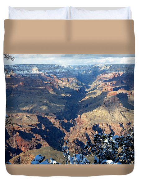 Duvet Cover featuring the photograph Majestic Grand Canyon by Laurel Powell