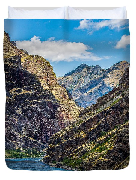 Majestic Hells Canyon Idaho Landscape By Kaylyn Franks Duvet Cover