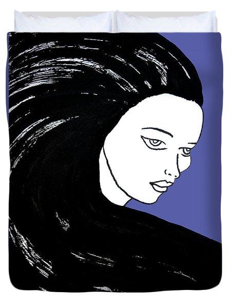 Majestic Lady J0715f J0715f Marina Blue Pastel Painting 17-4041 4f84c4 585fa8 Duvet Cover
