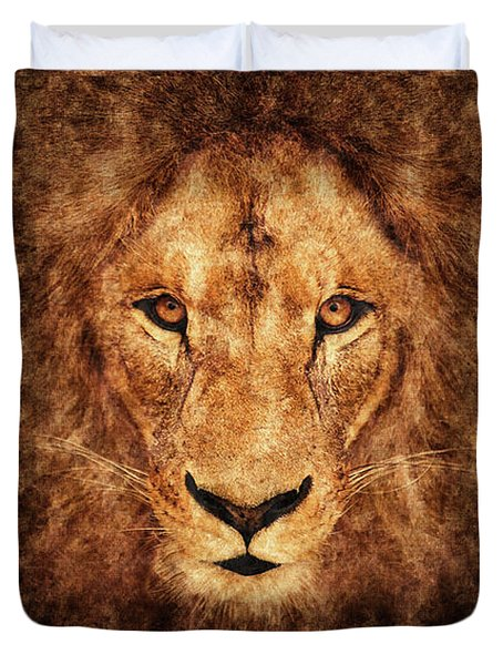 Majestic Lion Duvet Cover by Anton Kalinichev