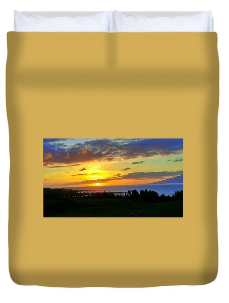 Majestic Maui Sunset Duvet Cover