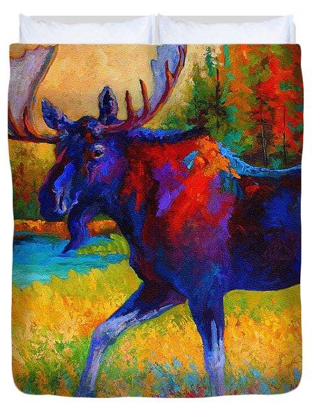 Majestic Monarch - Moose Duvet Cover