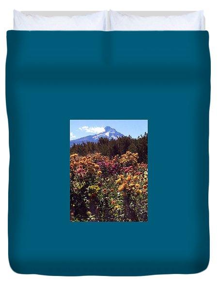 Majestic Mount Hood  Duvet Cover by Jennifer Lake