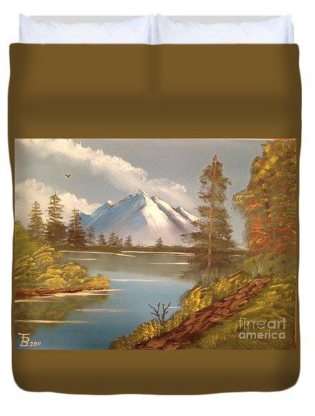 Majestic Mountain Lake Duvet Cover by Tim Blankenship