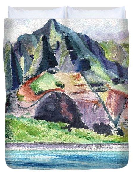 Majestic Na Pali Coast Duvet Cover