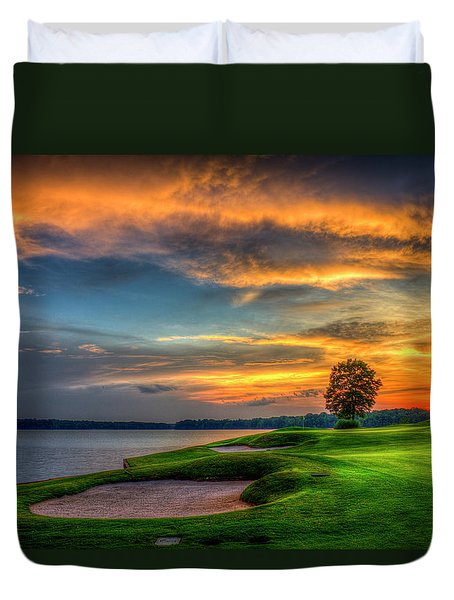 Duvet Cover featuring the photograph Majestic Number 4 The Landing Reynolds Plantation Art by Reid Callaway