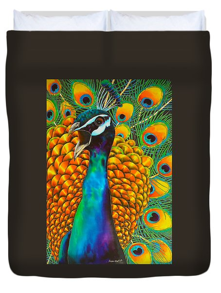 Majestic Peacock Duvet Cover
