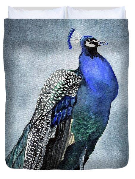 Majestic Peacock Duvet Cover