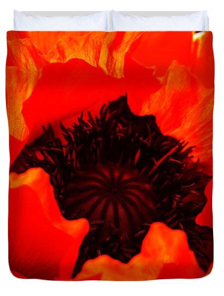 Majestic Poppy Duvet Cover by Stephen Melia
