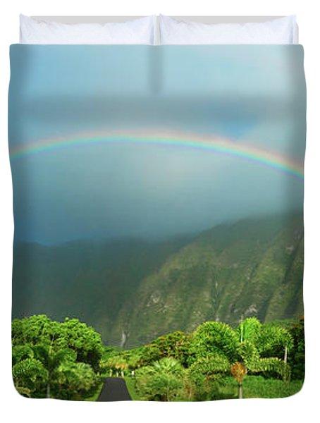Majestic Rainbow Duvet Cover
