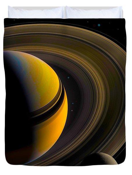 Majestic Saturn Duvet Cover