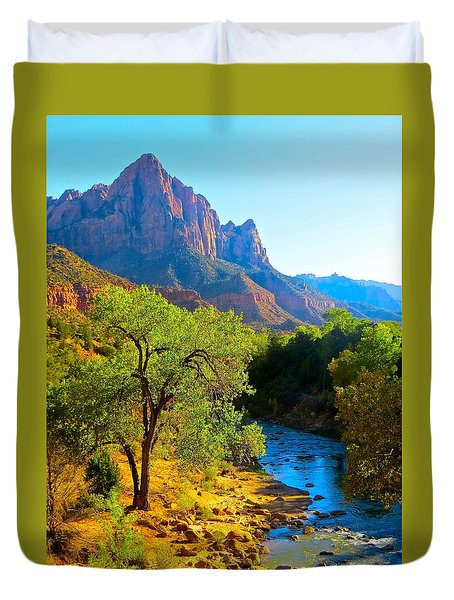 Majestic Watchman Duvet Cover