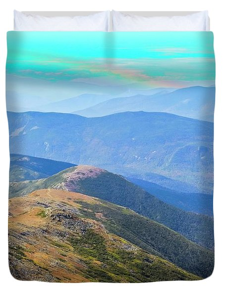 Majestic White Mountains Duvet Cover
