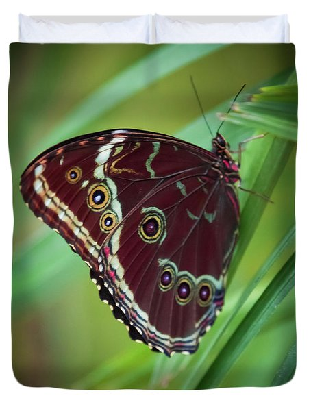 Duvet Cover featuring the photograph Majesty Of Nature by Karen Wiles