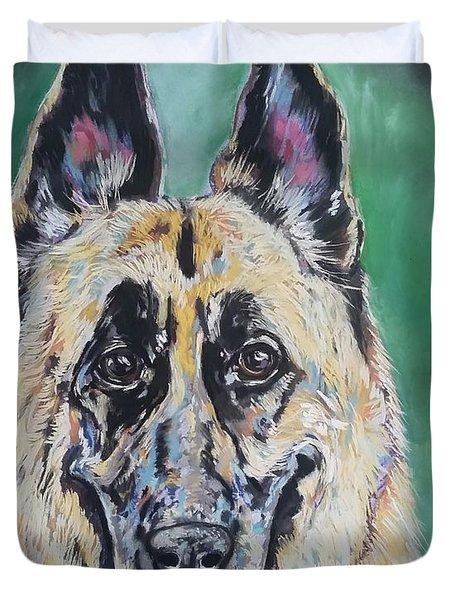 Major, The German Shepherd  Duvet Cover