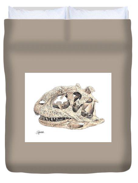 Majungasaur Skull Duvet Cover