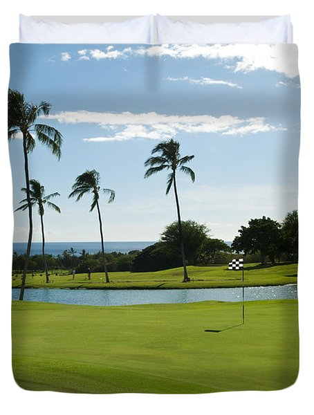 Makaha Golf Course Duvet Cover by Bill Bachmann - Printscapes