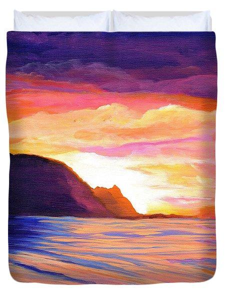 Makana Sunset Duvet Cover by Marionette Taboniar