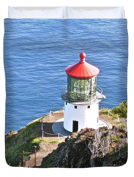 Makapuu Lighthouse 1065 Duvet Cover by Michael Peychich