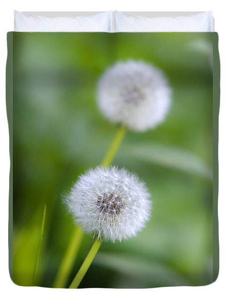 Make A Wish Dandelion Duvet Cover by Christina Rollo