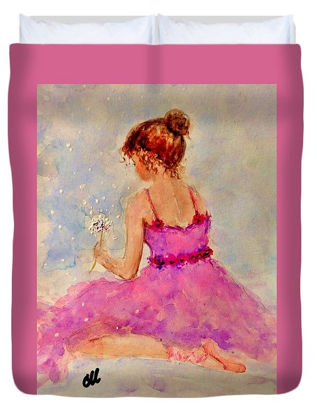 Duvet Cover featuring the painting Make A Wish..16 by Cristina Mihailescu