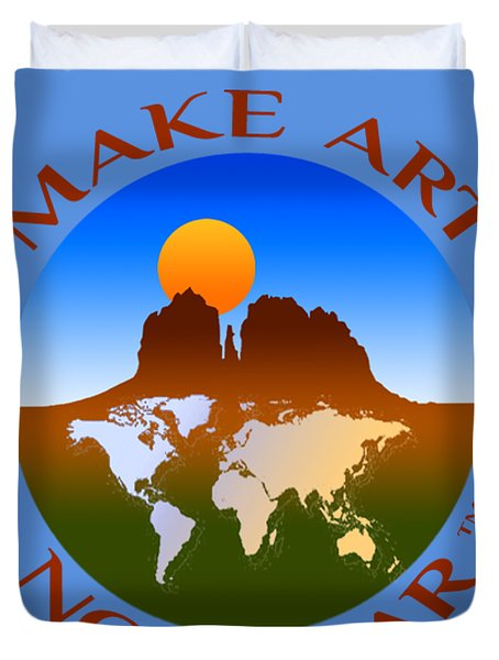 Make Art Not War Logo Duvet Cover
