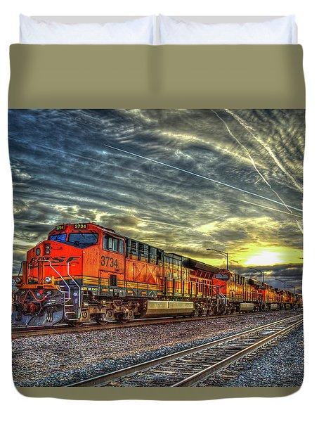 Make Way Resting B N S F Train Gallup New Mexico Art Duvet Cover