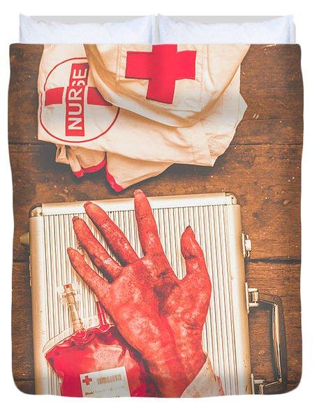 Make Your Own Frankenstein Medical Kit  Duvet Cover