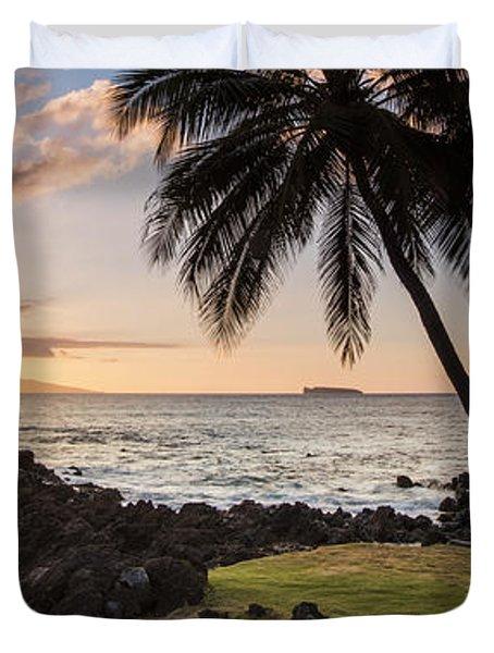 Makena Sunset Maui Hawaii Duvet Cover