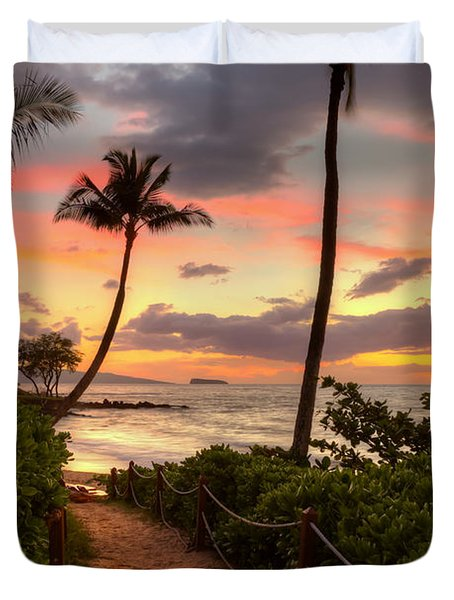Makena Sunset Path Duvet Cover