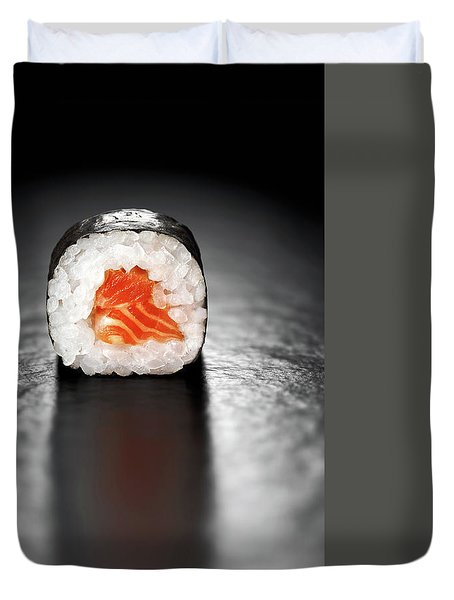 Maki Sushi Roll With Salmon Duvet Cover