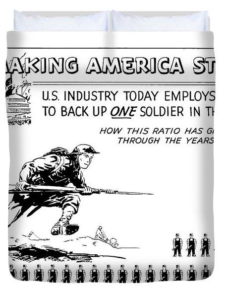 Making America Strong Cartoon Duvet Cover