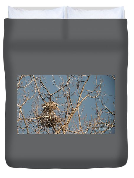 Duvet Cover featuring the photograph Making Babies by David Bearden