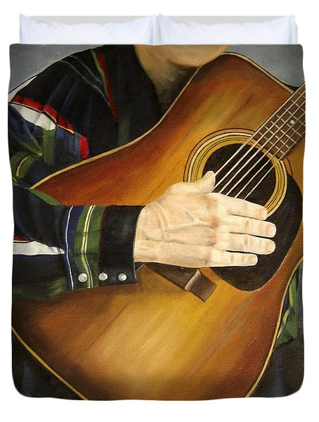 Making Music Duvet Cover by Mary Rogers