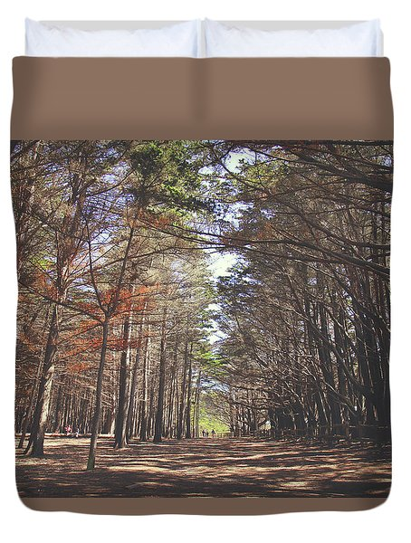 Duvet Cover featuring the photograph Making Our Way Through by Laurie Search