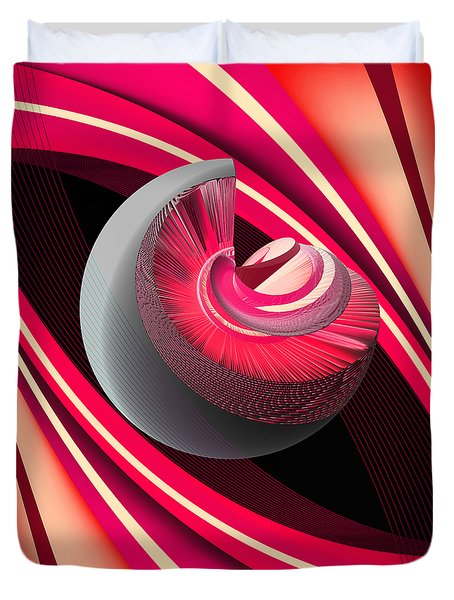 Duvet Cover featuring the digital art Making Pink Planets by Angelina Vick