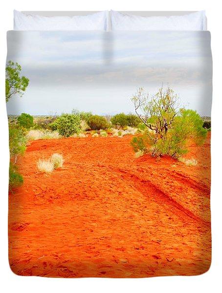 Making Tracks In The Dunes - Red Centre Australia Duvet Cover