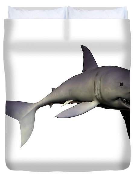 Mako Shark Duvet Cover by Corey Ford