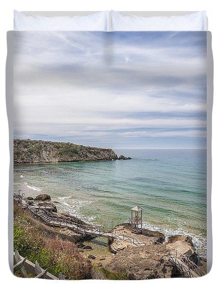 Makrygialos Beach Duvet Cover