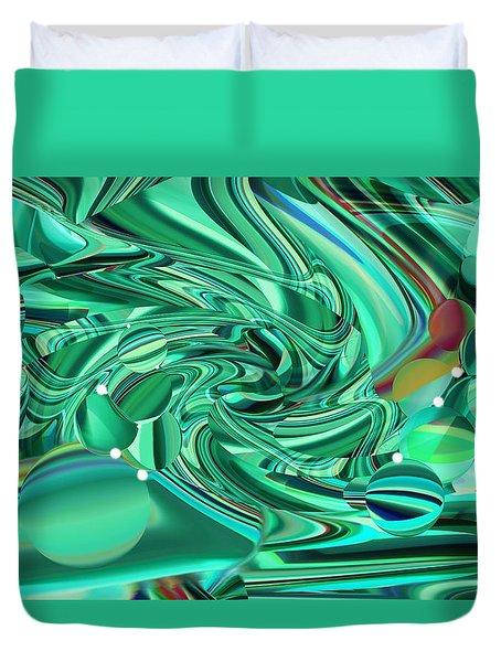 Malachite Green Sea Bubbles Duvet Cover