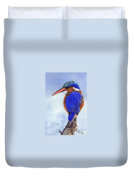 Malachite Kingfisher Duvet Cover