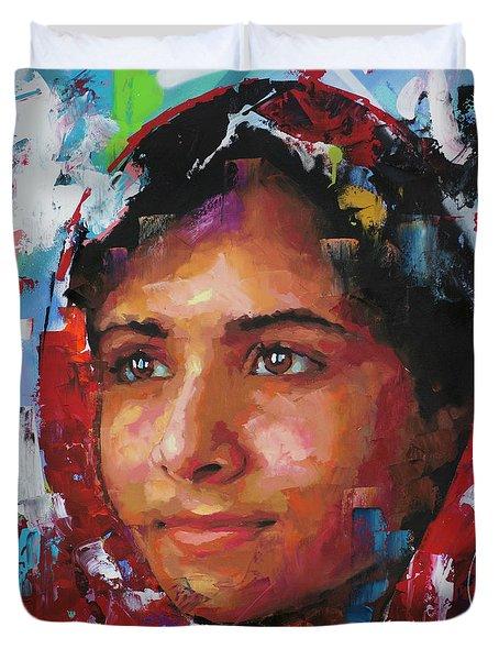 Malala Yousafzai II Duvet Cover