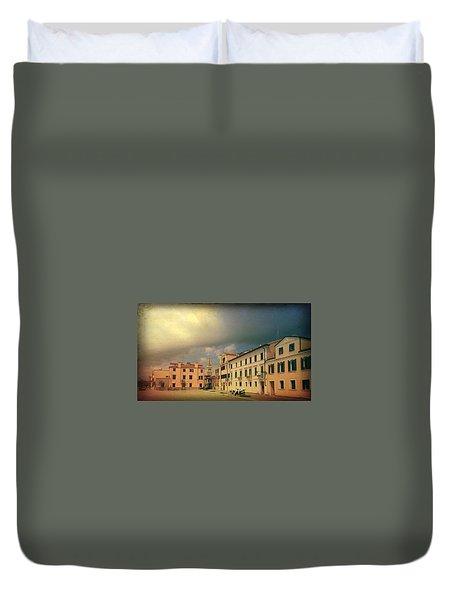 Duvet Cover featuring the photograph Malamacco Massive Cloud by Anne Kotan
