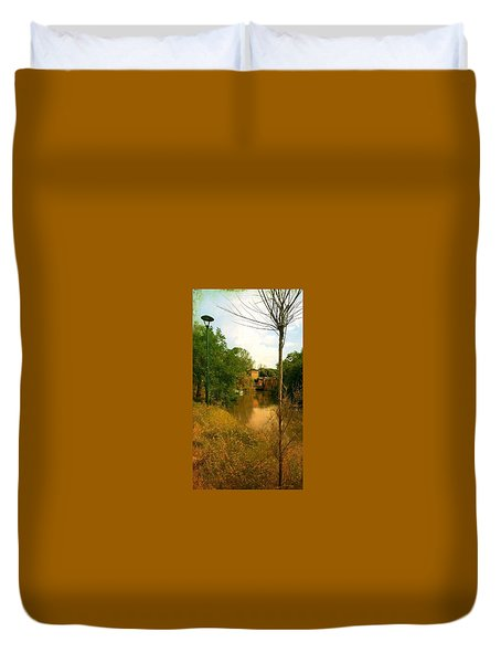 Duvet Cover featuring the photograph Malamocco Canal No2 by Anne Kotan